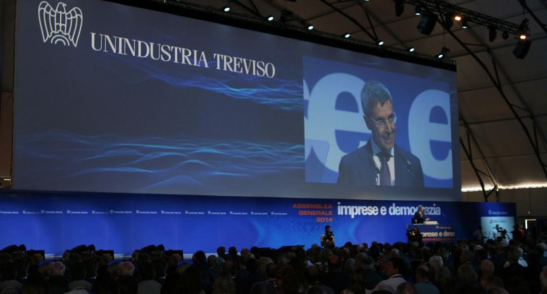 Allestimento Visual per l'Assemblea Unindustria Treviso 2014