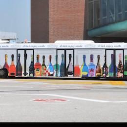 One way vetri autobus stampa digitale 3