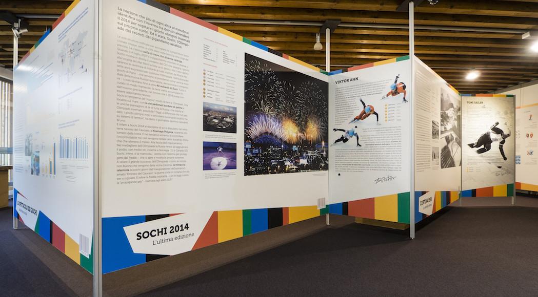 A Cortina allestimento per la mostra Olympic Winters