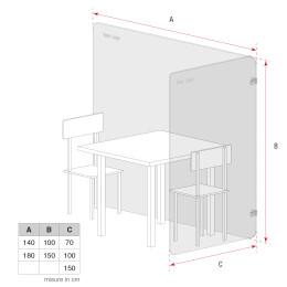 misure per tavolo da terra