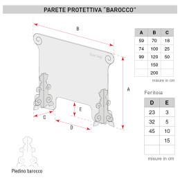 misure paratie autoportanti barocco